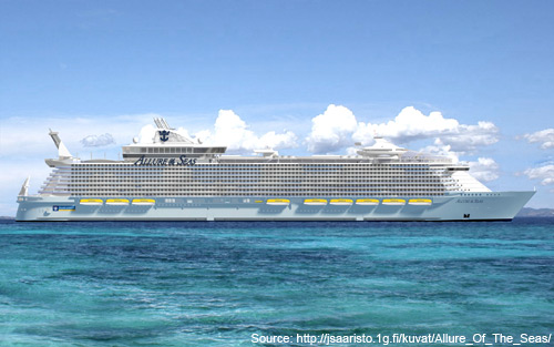 Top 10 world's largest cruise ships