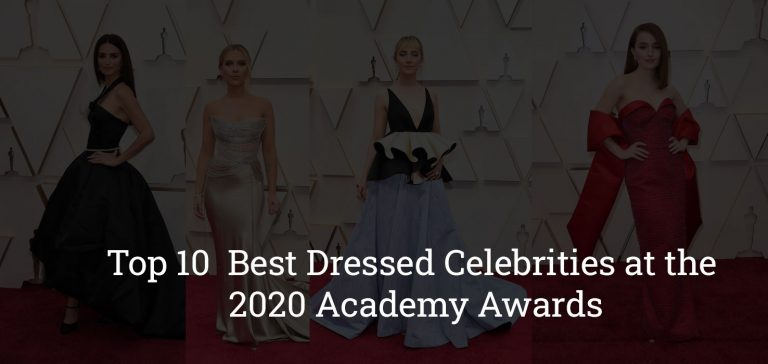 Top 10 Best Dressed Celebrities at the 2020 Academy Awards